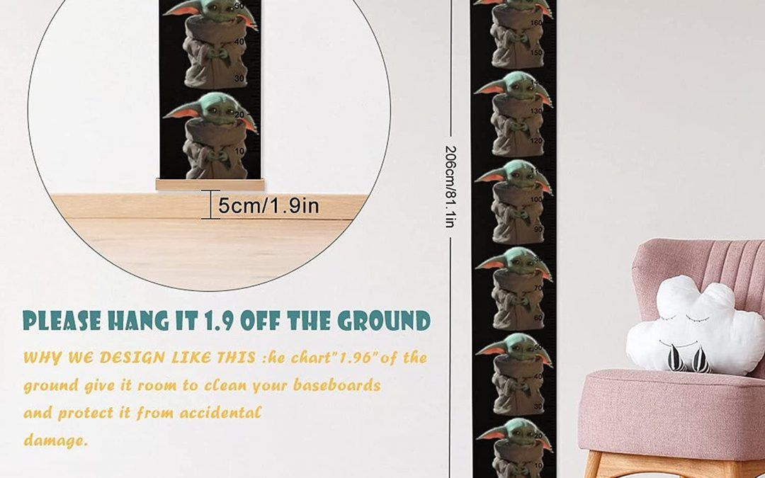 New The Mandalorian The Child (Grogu) Height Rulers Growth Chart available!