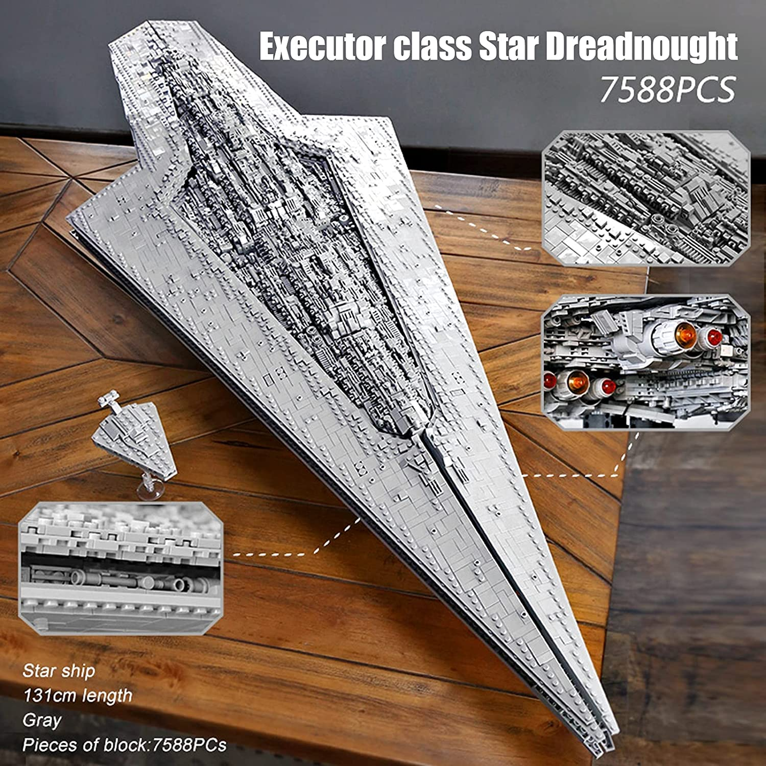 SW Executor Class Super Dreadnought Star Destroyer Lego Building Kit 3