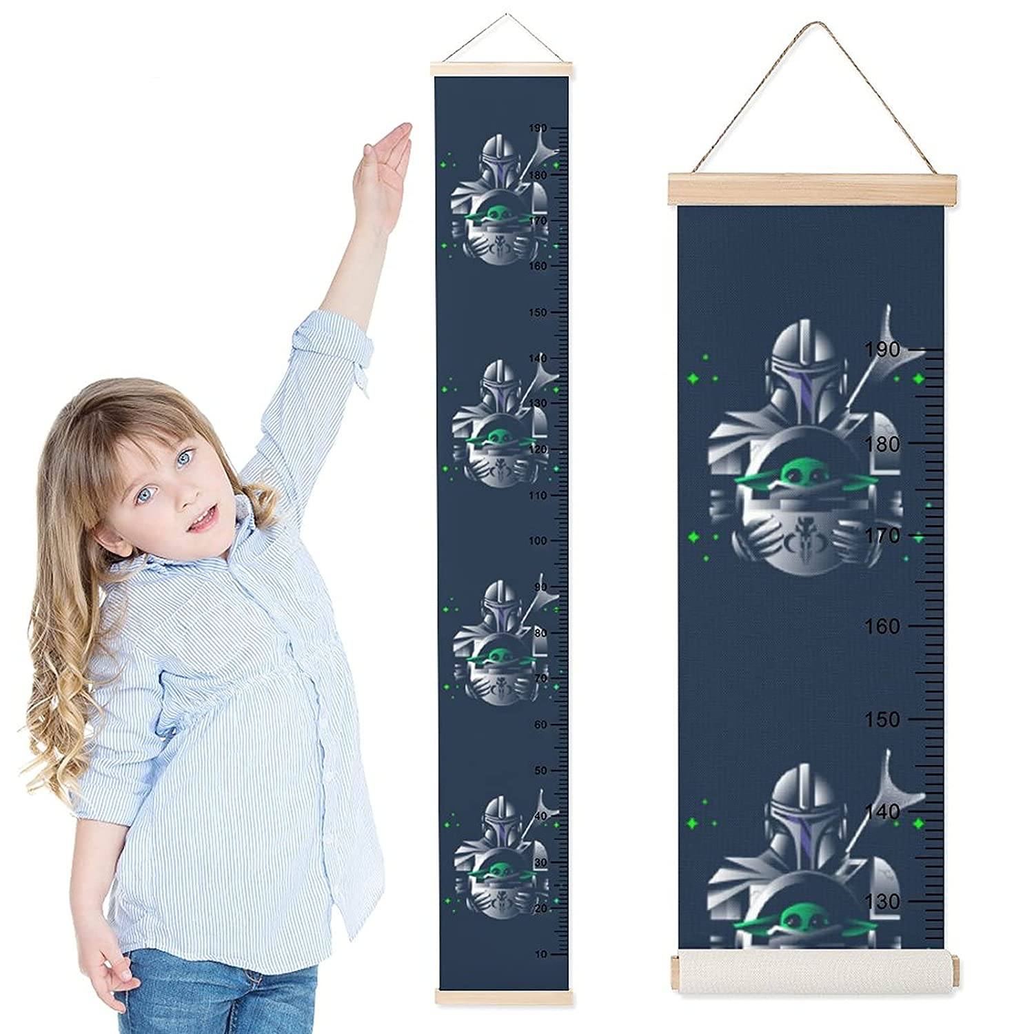 TM Mando and The Child Height Rulers Growth Chart 1