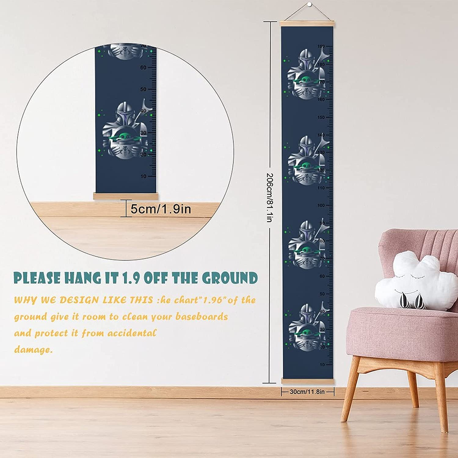 TM Mando and The Child Height Rulers Growth Chart 2