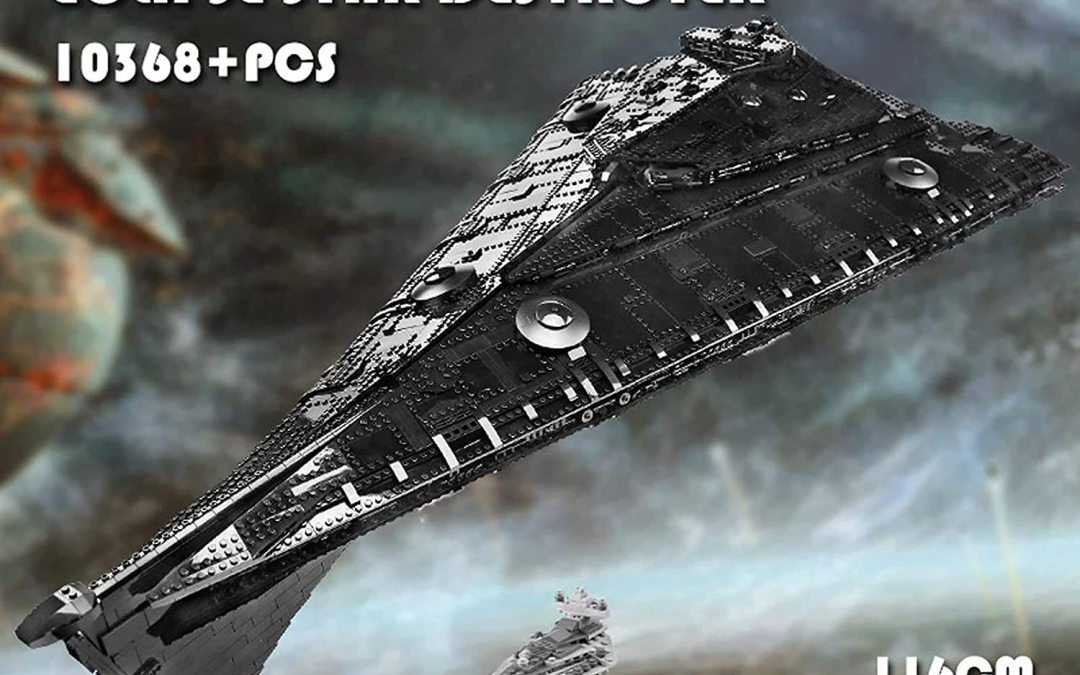 New First Order Eclipse-Class Dreadnought Star Destroyer Lego Building Kit available!