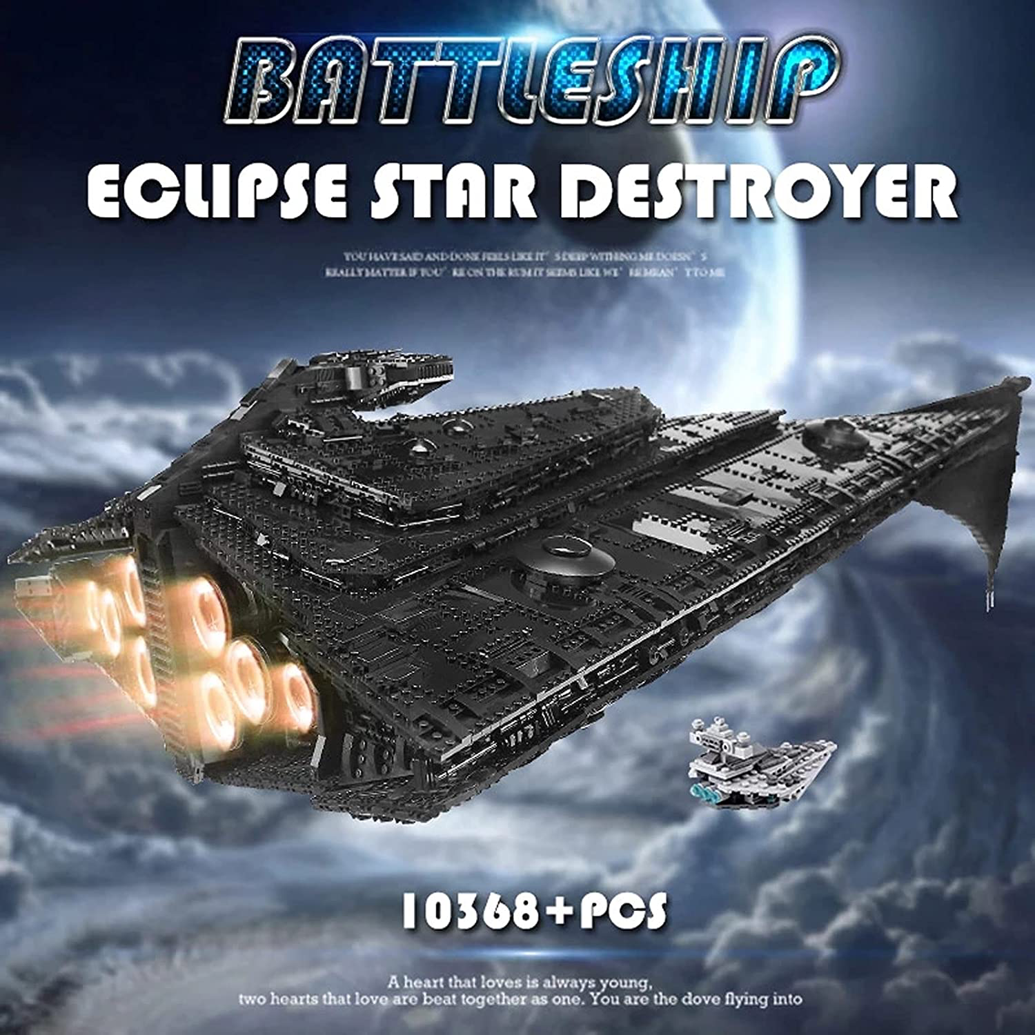 SW First Order Eclipse-Class Dreadnought Star Destroyer Lego Building Kit 4