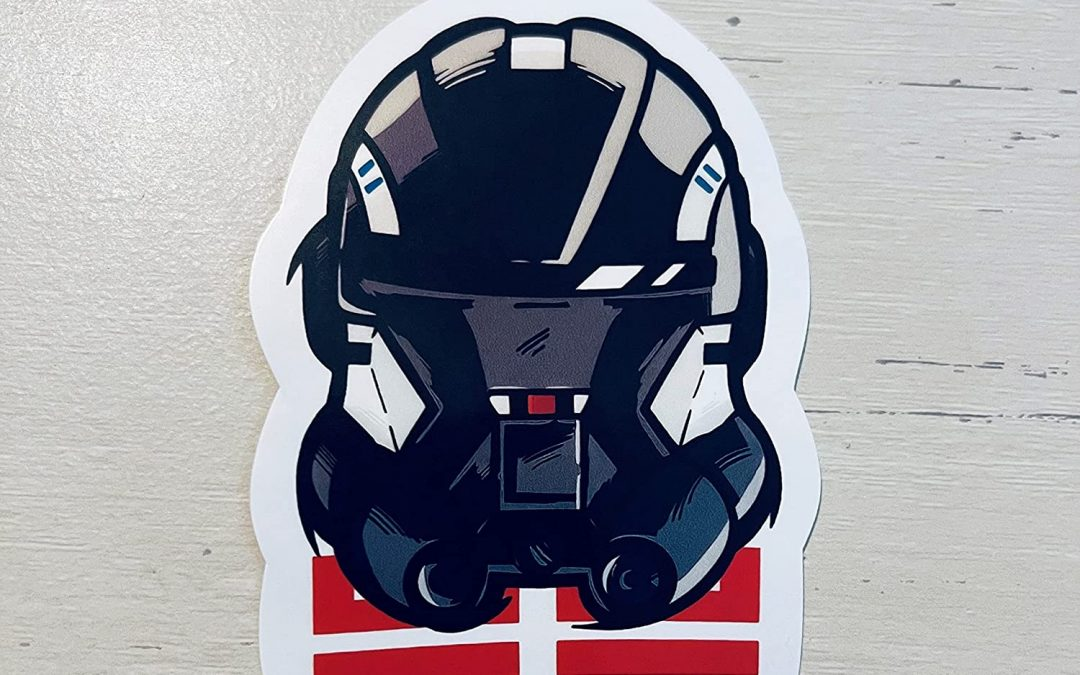 New Star Wars The Bad Batch Echo's Helmet Laptop Sticker available!