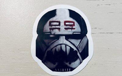 New The Bad Batch Wrecker's Helmet Laptop Sticker available!