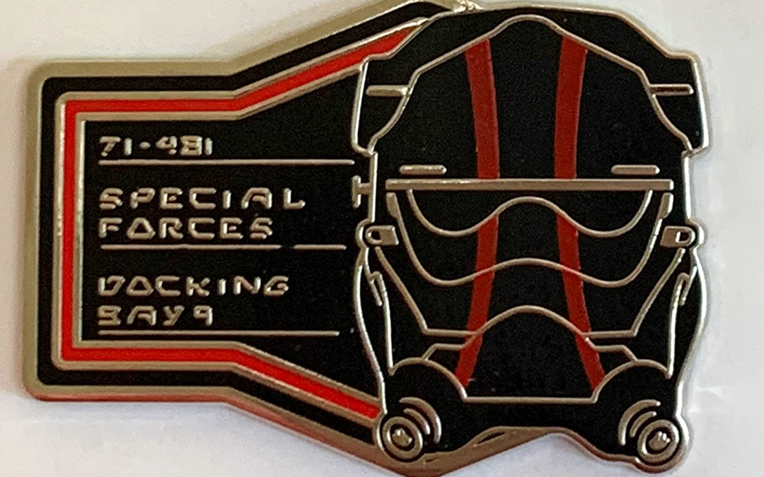 New Galaxy's Edge First Order Tie Pilot Helmet Special Forces Docking Bay 9 Pin available!