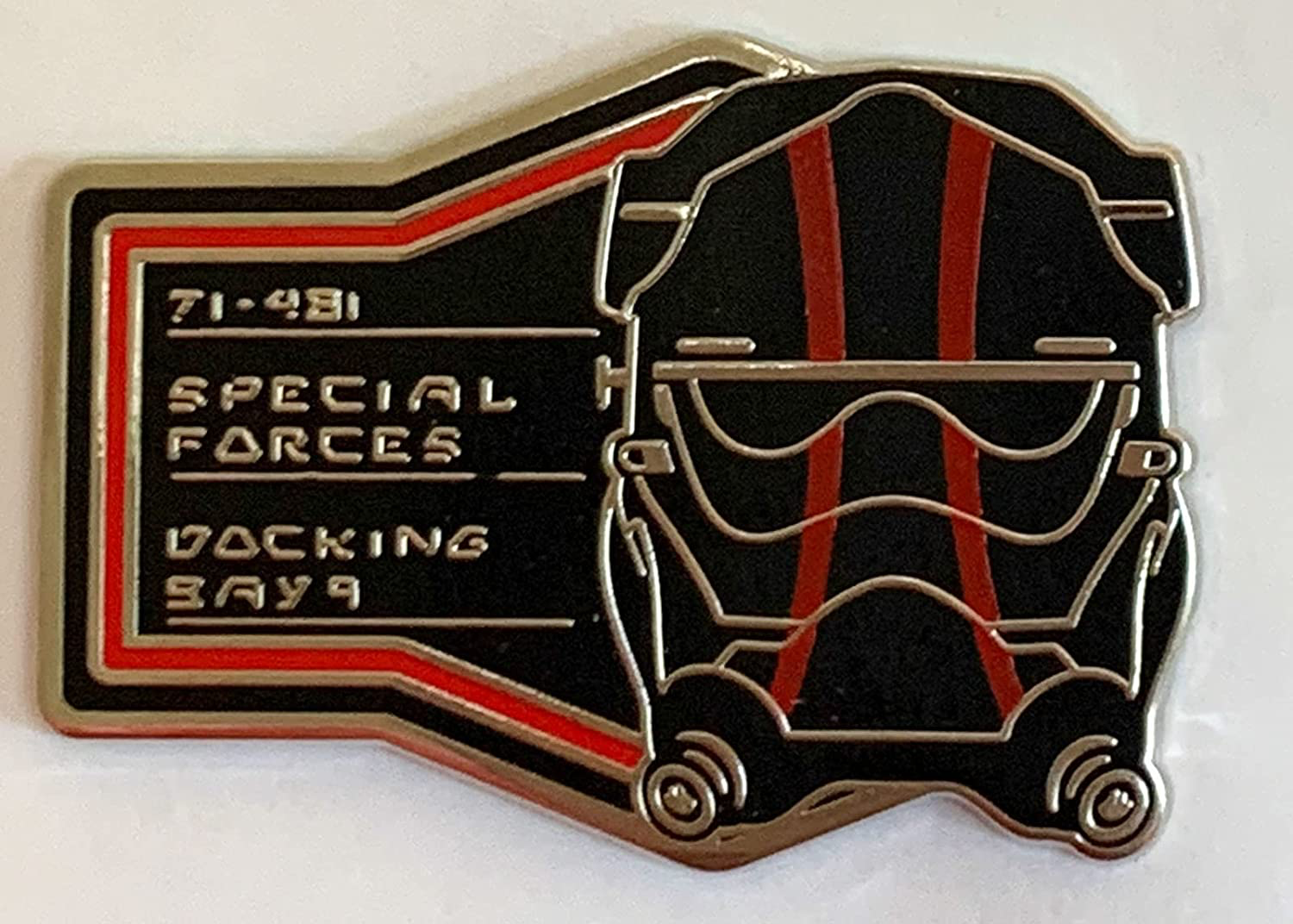 SWGE First Order Tie Pilot Helmet Special Forces Docking Bay 9 Pin