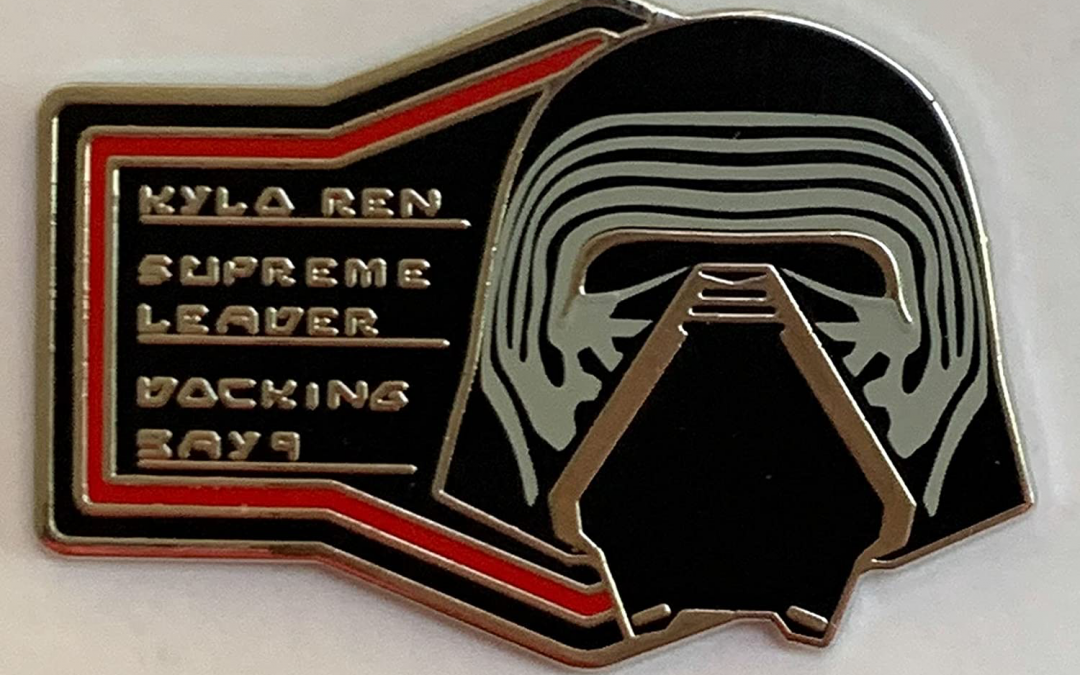 New Galaxy's Edge Supreme Leader Kylo Ren Docking Bay 9 Pin available!