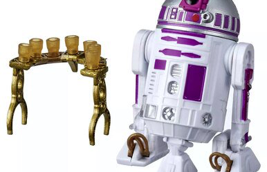 New Galaxy's Edge Trading Outpost Depot Purple Astromech Droid Figure available!