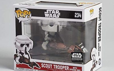 New The Mandalorian Scout Trooper with Speeder Bike Bobble Head Toy available now!