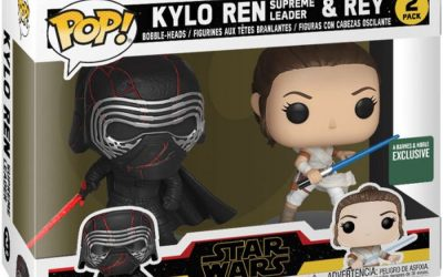 New Rise of Skywalker Funko Pop! Kylo Ren & Rey Bobble Head Toy 2-Pack available!