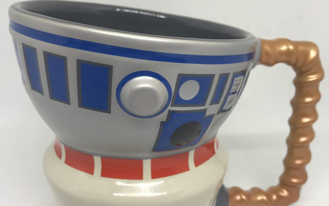 New Galaxy's Edge Droid Depot R2-D2 and R5-D4 Coffee Mug available!