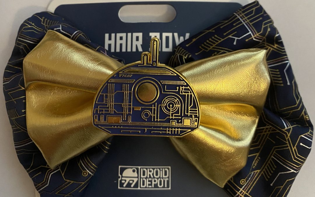 New Galaxy's Edge Droid Depot Gold Hair Bow available now!
