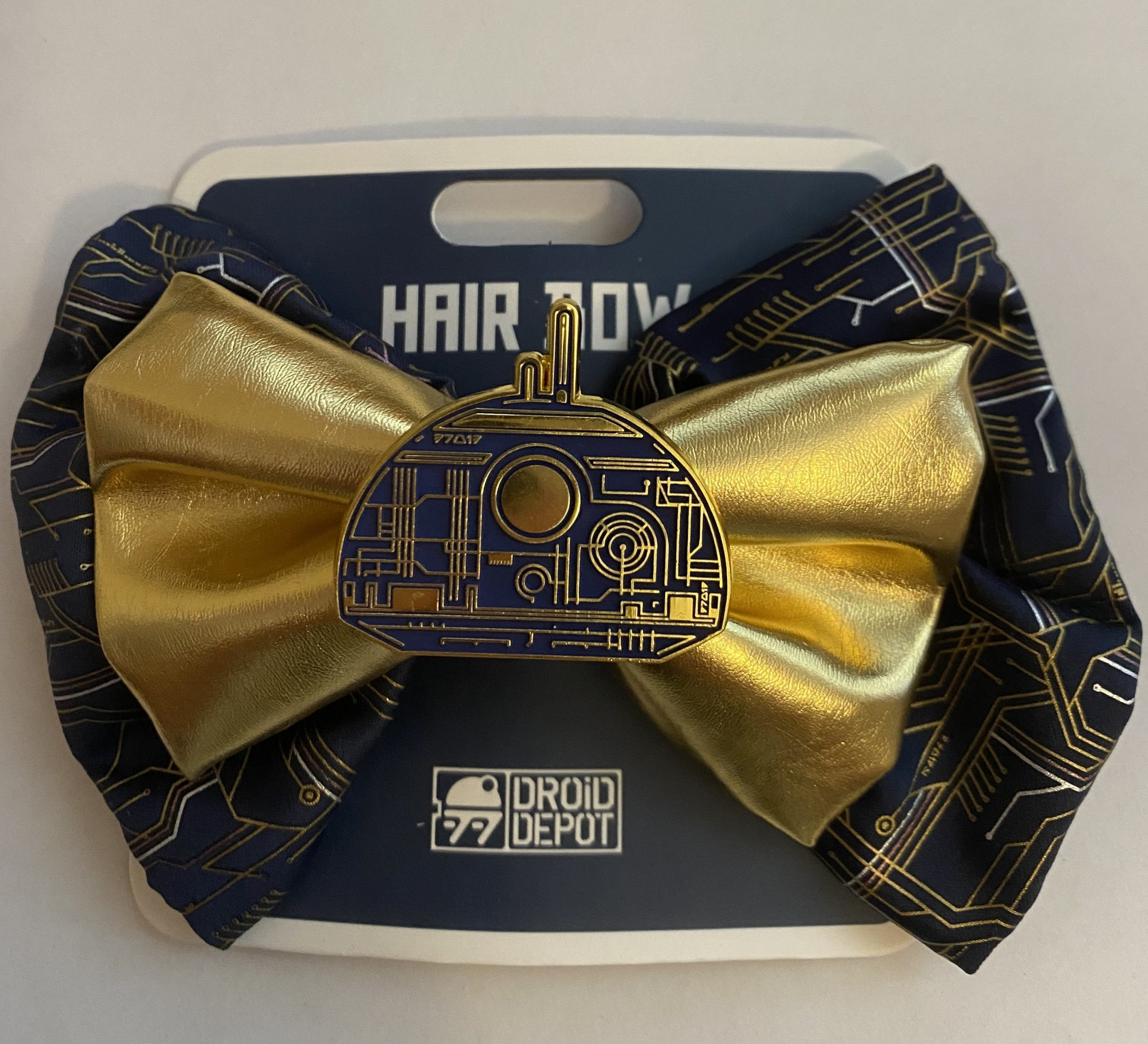 SWGE Droid Depot Gold Hair Bow