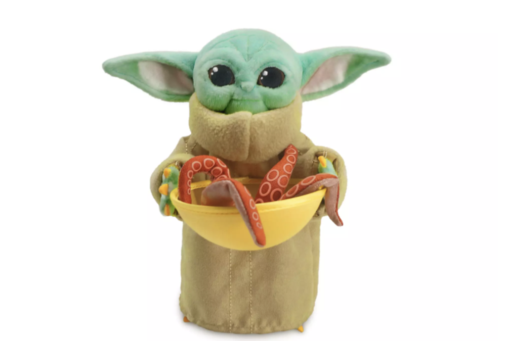 New The Mandalorian The Child (Grogu) with Squid Mini Bean Plush Toy available!