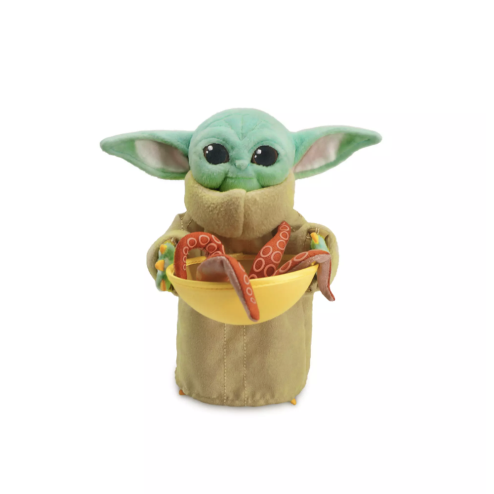 TM The Child (Grogu) with Squid Mini Bean Plush Toy 1