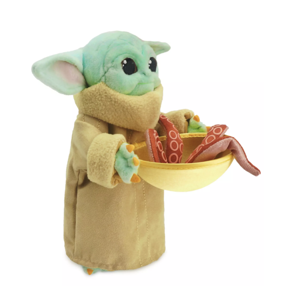 TM The Child (Grogu) with Squid Mini Bean Plush Toy 2