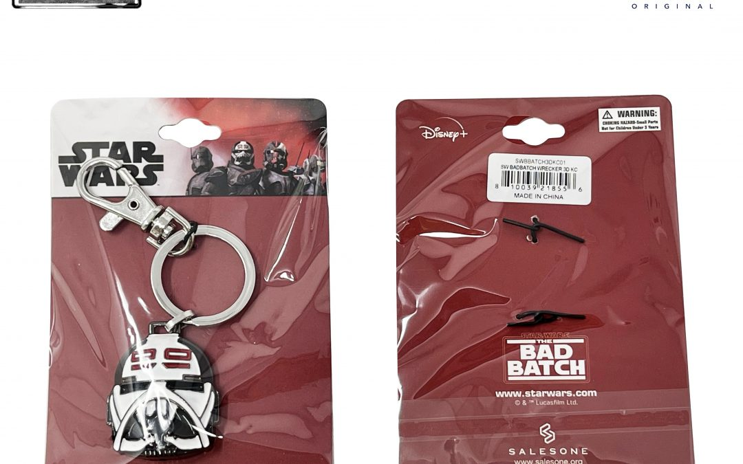 New The Bad Batch Wrecker Helmet Keychain Ring available now!