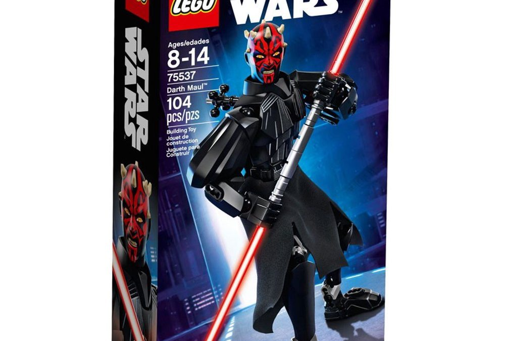 New Star Wars Darth Maul Buildable Figure Lego set available now!