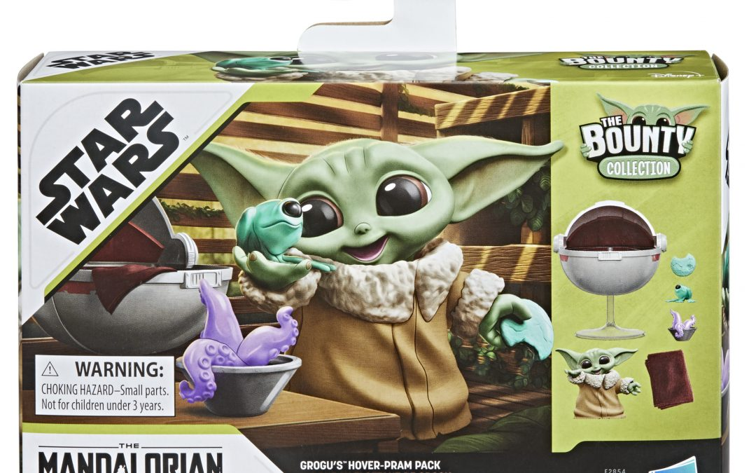 New The Mandalorian Grogu's Hover-Pram The Bounty Collection Figure Pack available!