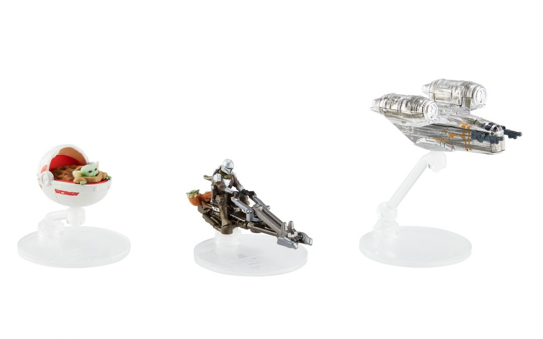New The Mandalorian Hot Wheels Die-Cast Vehicle Starships 3-Pack available now!