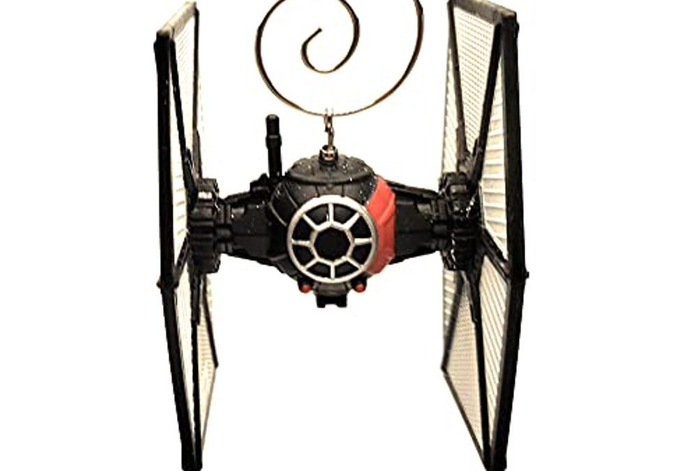 New Star Wars First Order Special Forces Tie Fighter Diecast Christmas Ornament available!