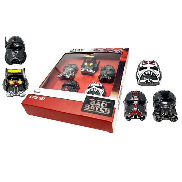 New The Bad Batch 3-Dimensional Helmet Collectors 5 Pin Set available now!