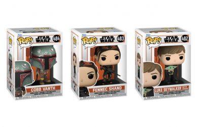 New The Mandalorian Funko Pop! Bobble Head Toy 3-Pack Bundle available!