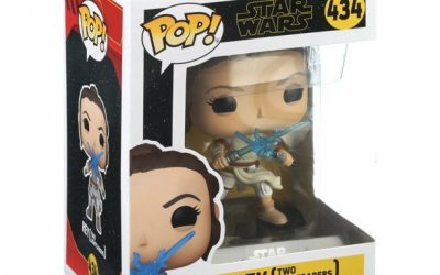 New The Rise of Skywalker Rey with 2 Light Sabers Funko Pop! Bobble Head Toy available!