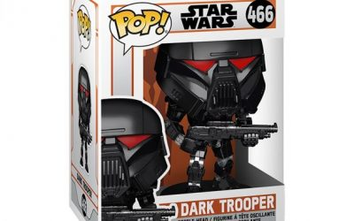 New The Mandalorian Funko Pop! Dark Trooper (Battle Version) Bobble Head Toy available!